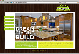 Peak Builders Inc. Website