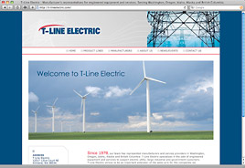 T-Line Electric Website Design